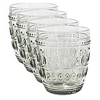 Euro Ceramica Fez Old Fashioned Glasses in Grey (Set of 4)