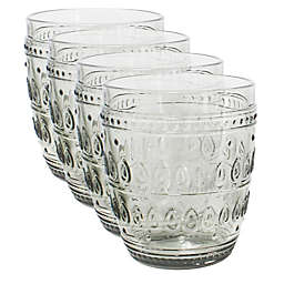 Euro Ceramica Fez Old Fashioned Glasses in Grey (Set of 4)