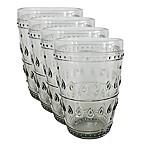 Euro Ceramica Fez Highball Glasses in Grey (Set of 4)
