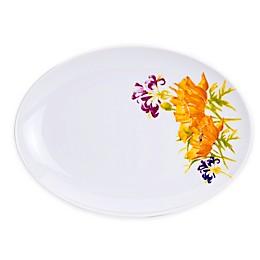 Euro Ceramica Tiger Lily 11.4-Inch Oval Platter