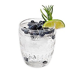 Euro Ceramica Fez Clear Old Fashioned Glasses (Set of 4)
