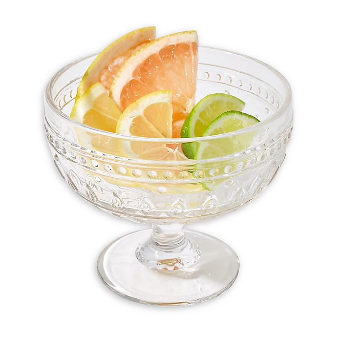 Alternate image 1 for Euro Ceramica Fez Clear Footed Compote Glasses (Set of 4)