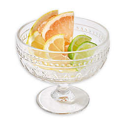 Euro Ceramica Fez Clear Footed Compote Glasses (Set of 4)