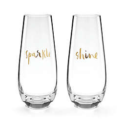 kate spade new york Oh What Fun Stemless Champagne Flutes (Set of 2)