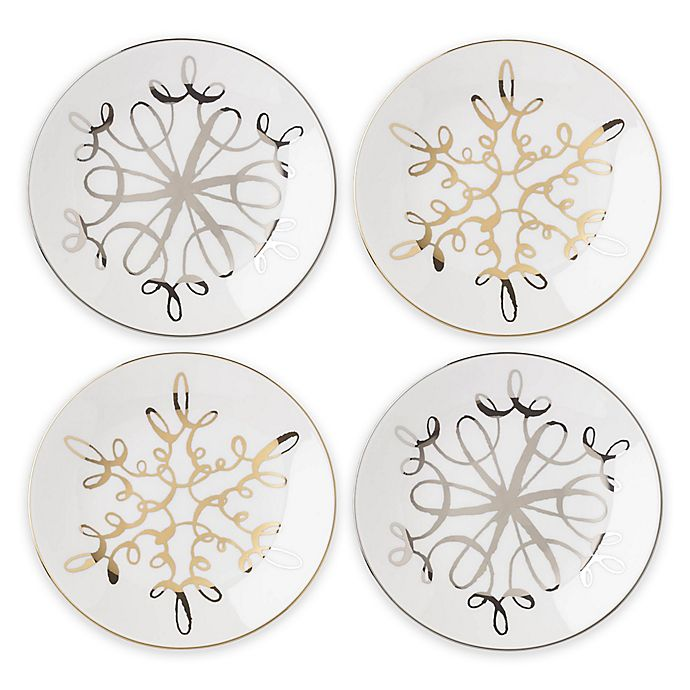Alternate image 1 for kate spade new york Jingle All the Way Tidbit Plates (Set of 4)