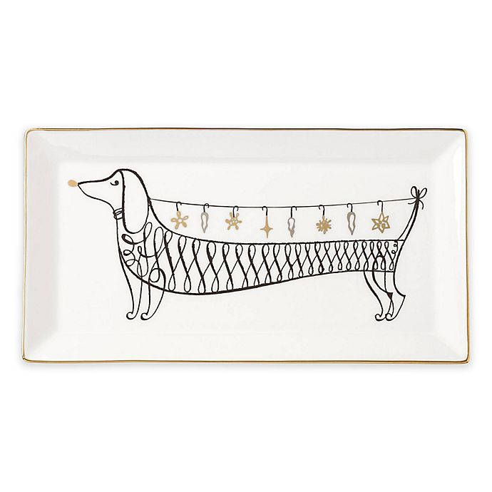 Alternate image 1 for kate spade new york Jingle All the Way Rectangular Tray