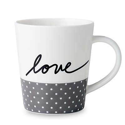 "ED Ellen DeGeneres Crafted by Royal Doulton® ""Love"" Grey Dot Mug"