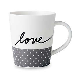 "ED Ellen DeGeneres Crafted by Royal Doulton® ""Love"" Grey Dot Mug"