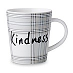 ED Ellen DeGeneres Crafted by Royal Doulton®  Kindness  Plaid Mug in Grey