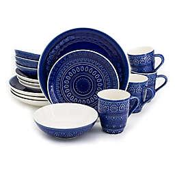Euro Ceramica Fez 16-Piece Dinnerware Set in Blue