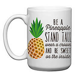 Love You a Latte Shop Be a Pineapple Mug in White