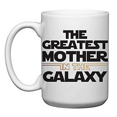 """Love You a Latte Shop """"The Greatest Mother in the Galaxy"""" Mug"""