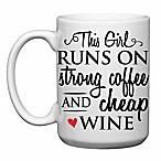 Love You a Latte Shop Coffee and Cheap Wine Mug
