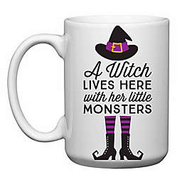 "Love You a Latte Shop ""A Witch Lives Here and Her Little Monsters"" Mug"