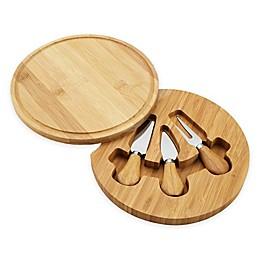 Picnic at Ascot 4-Piece Feta Bamboo Cheese Set