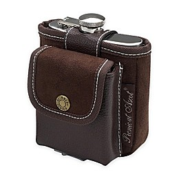 Picnic at Ascot Hip Flask and Playing Cards Set in Brown