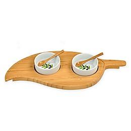 Picnic at Ascot 5-Piece Leaf Bamboo Serving Set