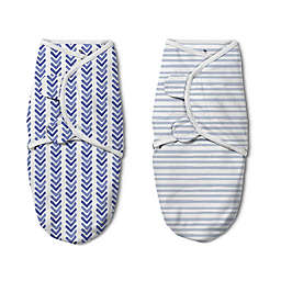 SwaddleMe® Luxe Watercolor Small/Medium 2-Pack Swaddles in Indigo
