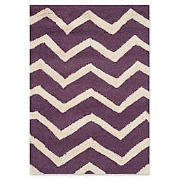 Safavieh Cambridge 2-Foot x 3-Foot Zoe Wool Rug in Purple/Ivory