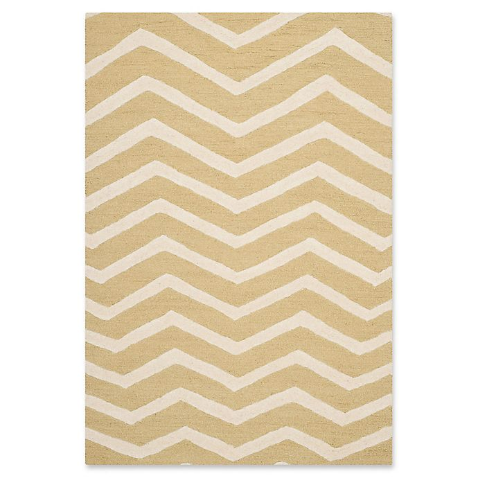 Alternate image 1 for Safavieh Cambridge 3-Foot x 5-Foot Zoe Wool Rug in Light Gold/Ivory