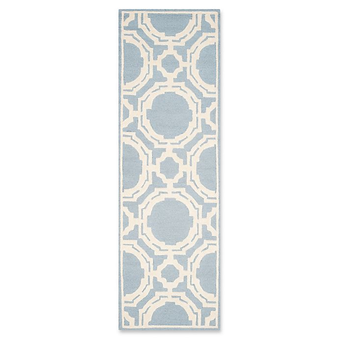 Alternate image 1 for Safavieh Cambridge 2-Foot 6-Inch x 8-Foot Mila Wool Rug in Blue/Ivory