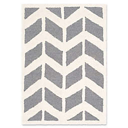 Safavieh Cambridge 2-Foot x 3-Foot Aria Wool Rug in Dark Grey/Ivory