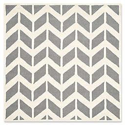 Safavieh Cambridge 6-Foot x 6-Foot Aria Wool Rug in Dark Grey/Ivory