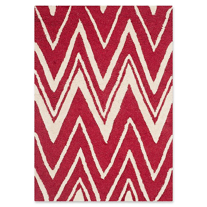 Alternate image 1 for Safavieh Cambridge 3-Foot x 5-Foot Olivia Wool Rug in Red/Ivory
