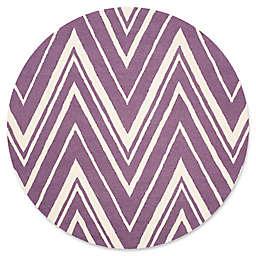 Safavieh Cambridge 6-Foot x 6-Foot Olivia Wool Rug in Purple/Ivory