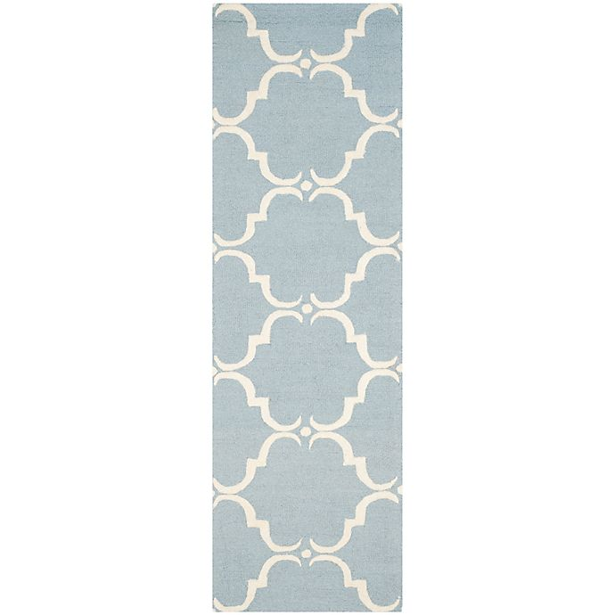 Alternate image 1 for Safavieh Cambridge 2-Foot 6-Inch x 6-Foot Diana Wool Rug in Blue/Ivory