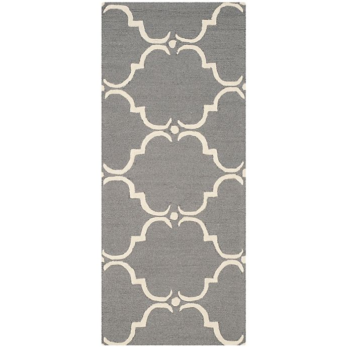Alternate image 1 for Safavieh Cambridge 2-Foot 6-Inch x 6-Foot Diana Wool Rug in Dark Grey/Ivory
