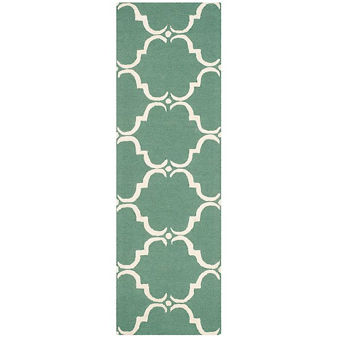 Alternate image 1 for Safavieh Cambridge 2-Foot 6-Inch x 6-Foot Diana Wool Rug in Teal/Ivory