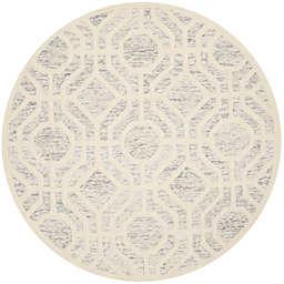 Safavieh Cambridge 6-Foot x 6-Foot Harper Wool Rug in Light Grey/Ivory