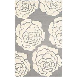 Safavieh Cambridge 8-Foot x 10-Foot Molly Wool Rug in Dark Grey/Ivory