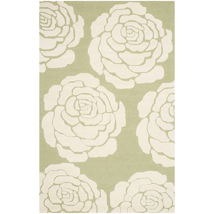 Alternate image 1 for Safavieh Cambridge 3-Foot x 5-Foot Molly Wool Rug in Lime/Ivory
