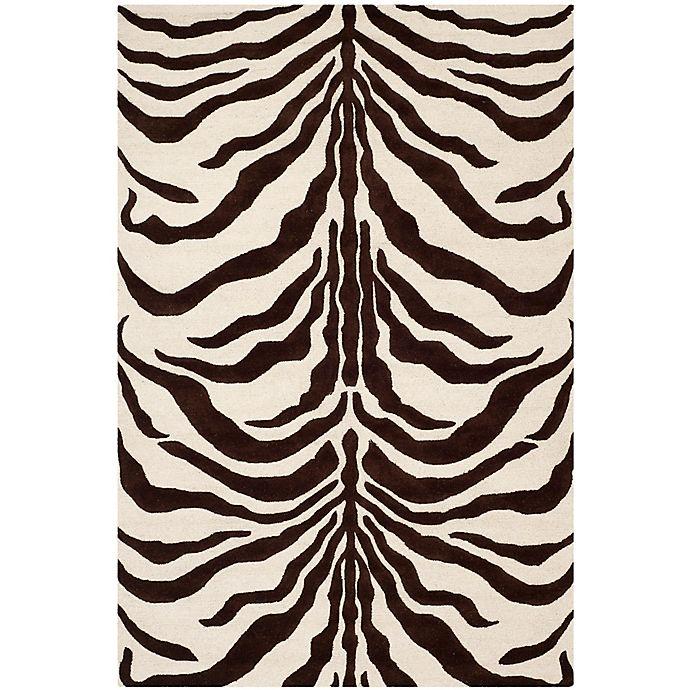 Alternate image 1 for Safavieh Cambridge 6-Foot x 9-Foot Dina Wool Rug in Ivory/Brown
