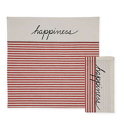 """ED Ellen DeGeneres """"Happiness"""" Placemat and Napkin Collection"""