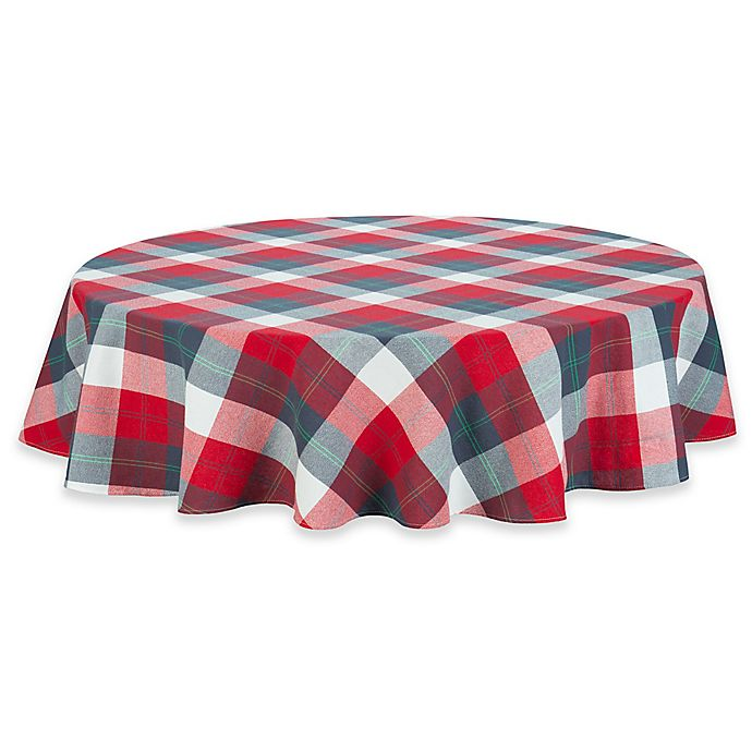 Alternate image 1 for UGG® Camper Plaid 70-Inch Round Tablecloth