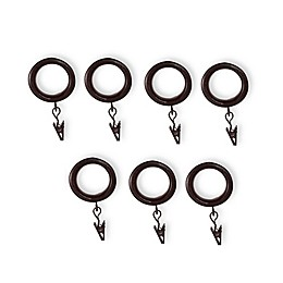 Cambria® Casuals® Clip Rings in Dark Brown Wood (Set of 7)