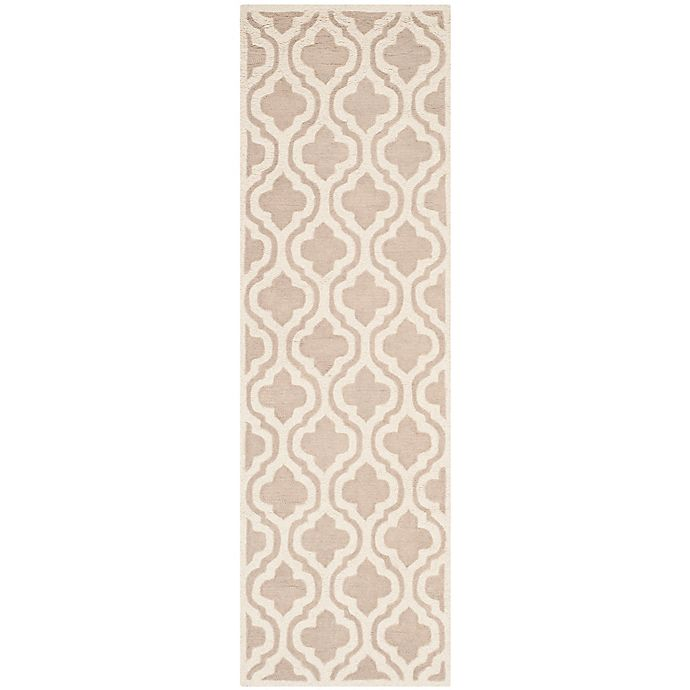Alternate image 1 for Safavieh Cambridge 2-Foot 6-Inch x 8-Foot Cory Wool Rug in Mocha/Ivory