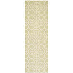 Safavieh Cambridge 2-Foot 6-Inch x 8-Foot Ava Wool Rug in Light Green/Ivory