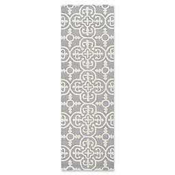 Safavieh Cambridge 2-Foot 6-Inch x 20-Foot Ava Wool Rug in Silver/Ivory