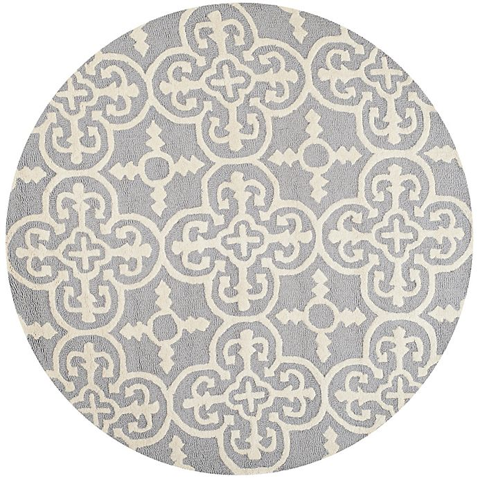 Alternate image 1 for Safavieh Cambridge 4-Foot x 4-Foot Ava Wool Rug in Silver/Ivory