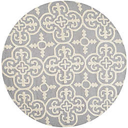 Safavieh Cambridge 4-Foot x 4-Foot Ava Wool Rug in Silver/Ivory