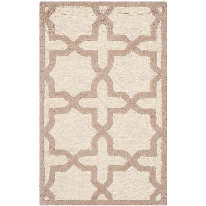 Alternate image 1 for Safavieh Cambridge 2-Foot 6-Inch x 4-Foot Ana Wool Rug in Ivory and Beige
