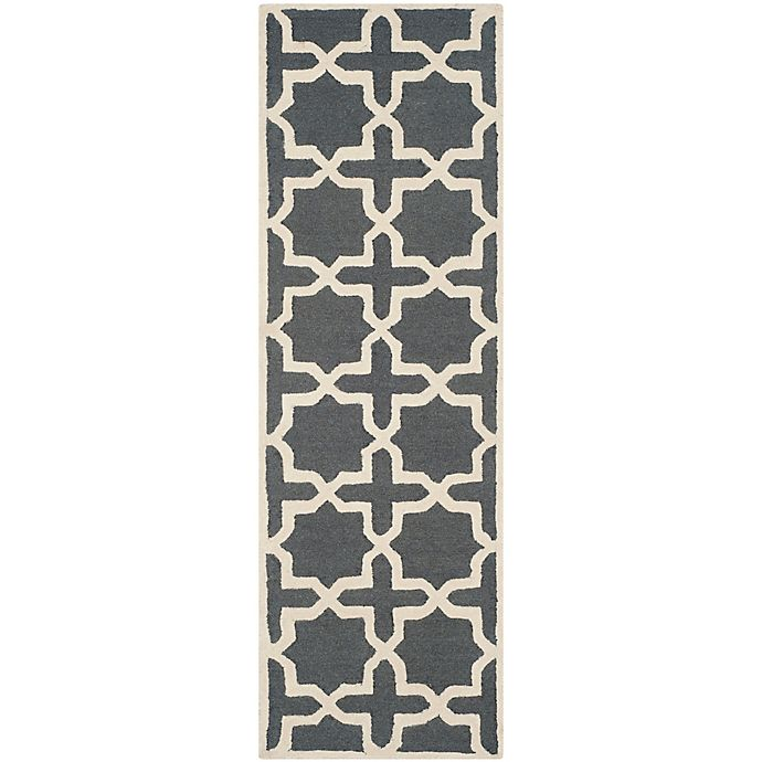Alternate image 1 for Safavieh Cambridge 2-Foot 6-Inch x 6-Foot Ana Wool Rug in Dark Grey and Ivory