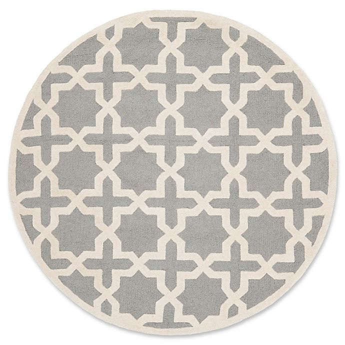 Alternate image 1 for Safavieh Cambridge 4-Foot x 4-Foot Ana Wool Rug in Silver and Ivory