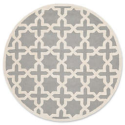 Safavieh Cambridge 4-Foot x 4-Foot Ana Wool Rug in Silver and Ivory