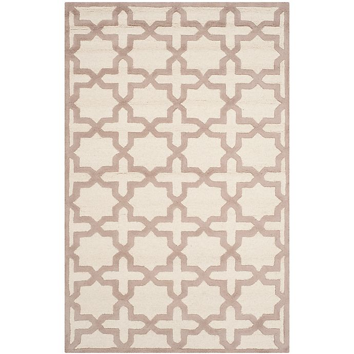 Alternate image 1 for Safavieh Cambridge 4-Foot x 6-Foot Ana Wool Rug in Ivory and Beige