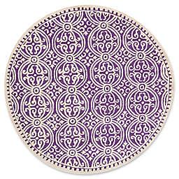 Safavieh Cambridge 4-Foot x 4-Foot Gena Wool Rug in Purple/Ivory